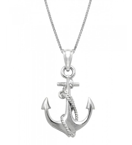 Sterling Silver Anchor Necklace Pendant