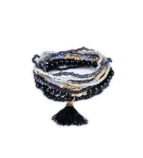 Bohemian Textured Stackable Set Black bl003054 2