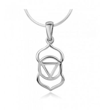 Sterling Silver Spiritual Pendant Necklace