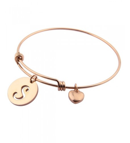 Ensianth Initial Bracelet Stainless Adjustable