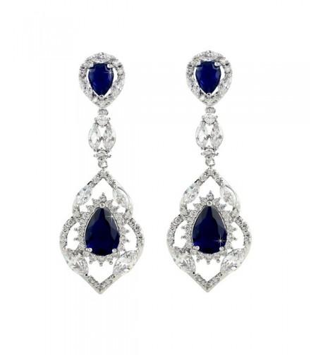 SELOVO Sapphire Zirconia Earrings Jewelry