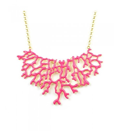 Womens Enamel Branch Summer Necklace