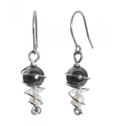 Titanium Earrings Created Swarovski Crystals