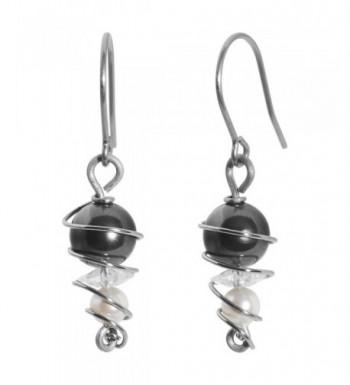 Titanium Earrings Created Swarovski Crystals