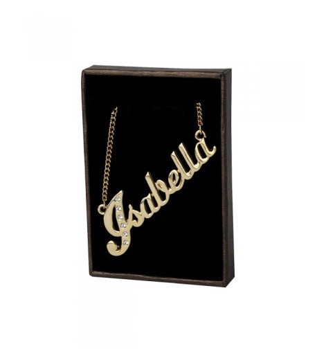 Name Necklace Isabella Gold Plated