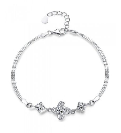 Sterling Silver Bracelet Presentski Diamond