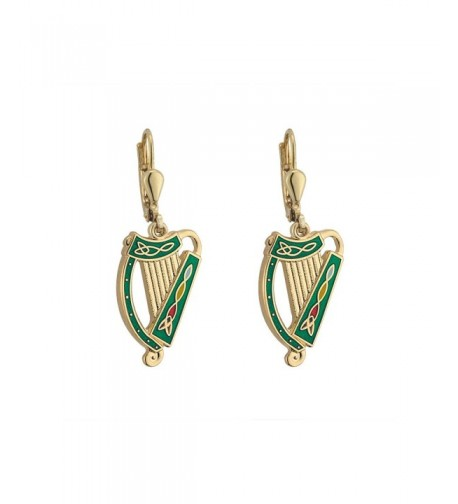Irish Earrings Plated Enamel Ireland