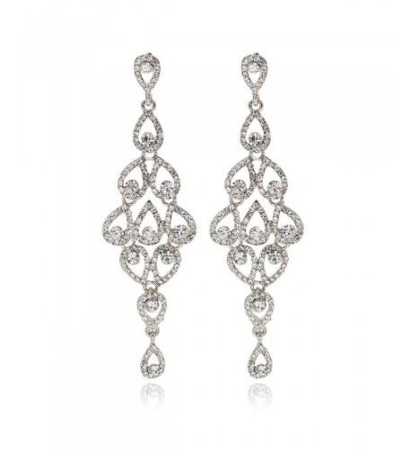 Janefashions Austrian Rhinestone Chandelier Earrings