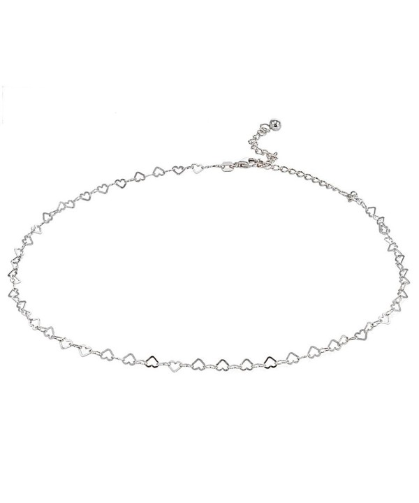 Sterling Silver Italian Choker Necklace