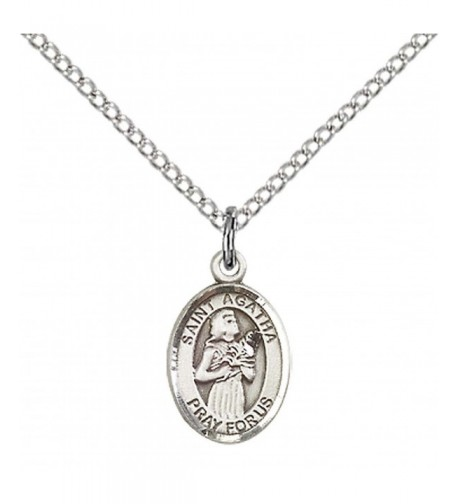 Sterling Silver Agatha Pendant Stainless