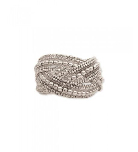 Silver Plate Beaded Braided Bracelet