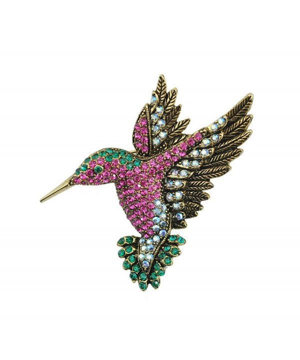 TTjewelry Beautiful Multi color Hummingbird Rhinestone