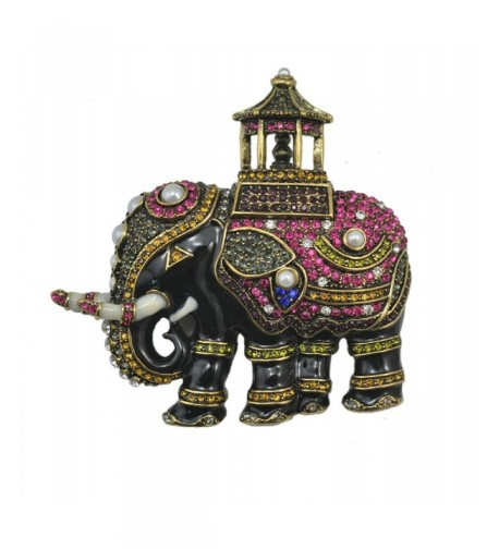 TTjewelry Vintage Elephant Animals Multi color