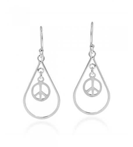 Spirit Teardrop Symbol Sterling Earrings