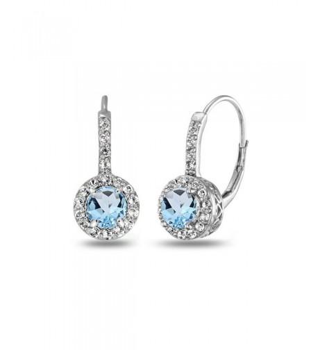 Sterling Silver Dainty Leverback Earrings
