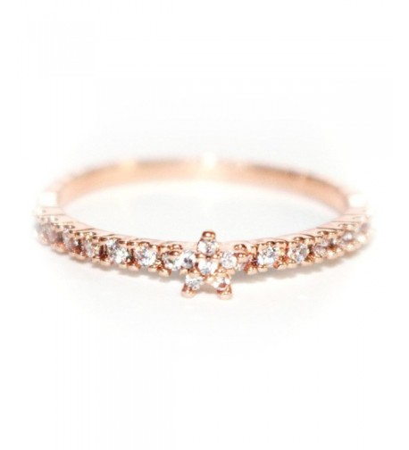 Dainty Delicate Flower Pave Band