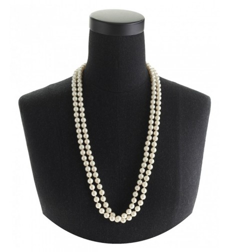 Cream Pearl Necklace Knotted Elegant