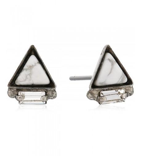 Sorrelli Collection Triangle Semi Precious Earrings