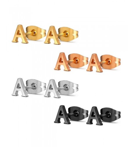 Assorted Stainless Alphabet Earrings Hypoallergenic