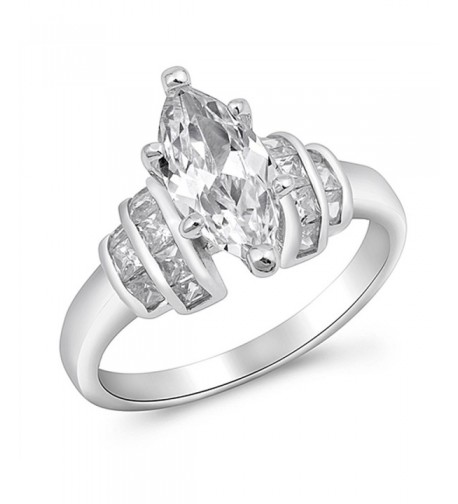 Marquise Solitaire Wholesale Sterling Silver