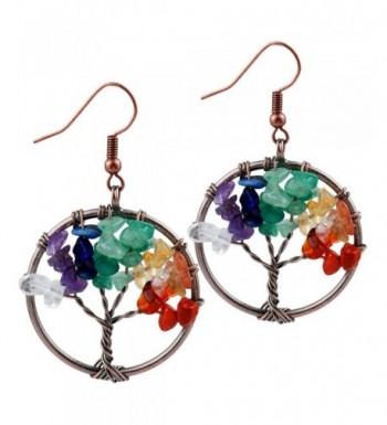 SUNYIK Mixed Dangle Earrings Copper