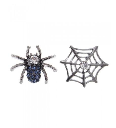 Alilang Gunmetal Rhinestone Earrings Halloween