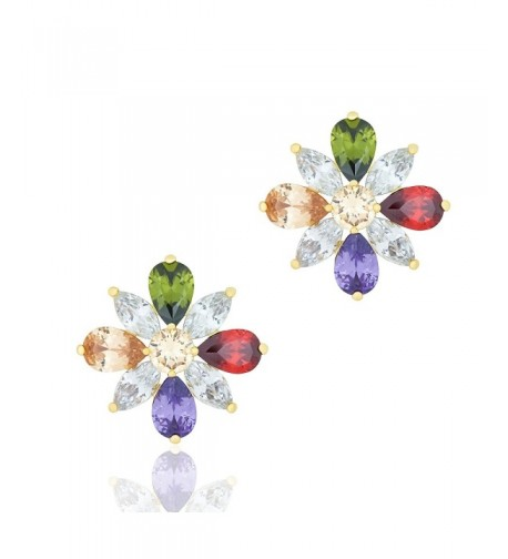 ORROUS Collection Zirconia Colorful Earrings