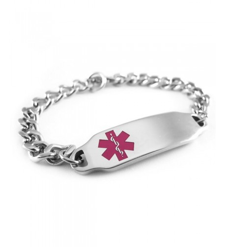 MyIDDr Pre Engraved Customizable Coumadin Bracelet