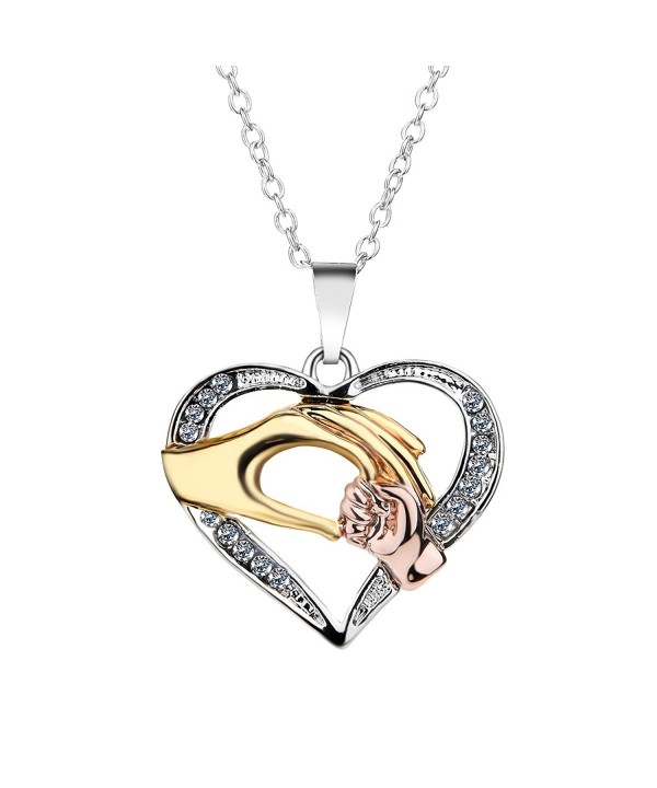 Heart shaped Necklace Pendant Extender Mothers