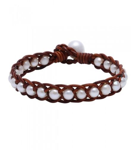 Braided Cultured Freshwater Bracelet Genuine