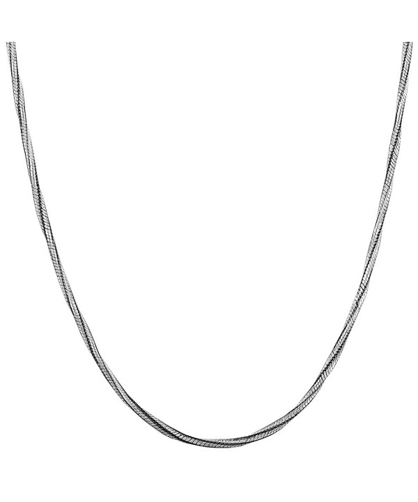 Black plated Sterling Silver 1 5 mm Twisted