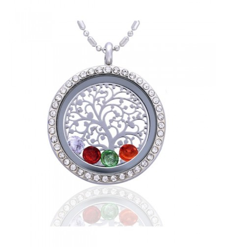 Family Tree Birthstone Necklace Jewelry