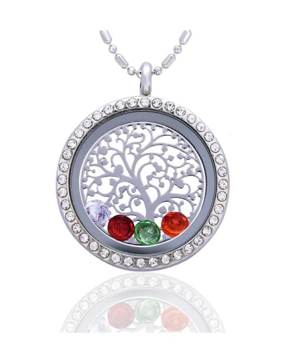 Family Tree Birthstone Necklace Jewelry