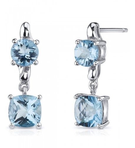 Cushion Carats Earrings Sterling Rhodium