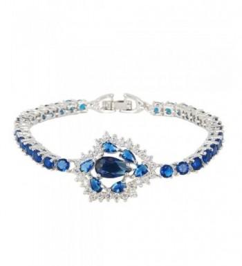EVER FAITH Zirconia Bracelet Silver Tone