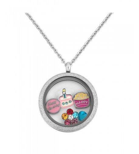 Locket Birthday Floating Stainless Necklace