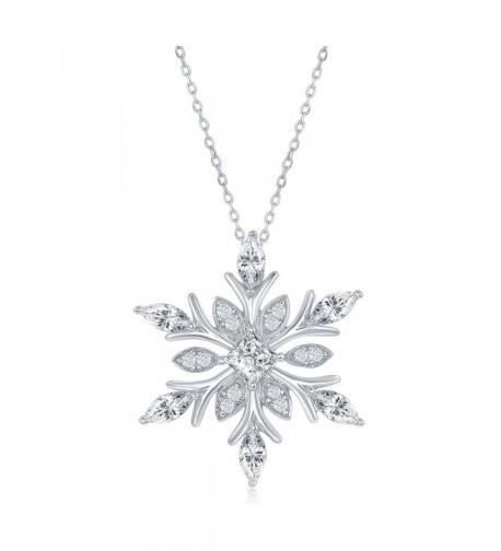 Sterling Silver Snowflake Pendant Chain