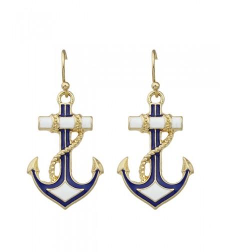 Feelontop Antique Anchor Earrings Jewelry