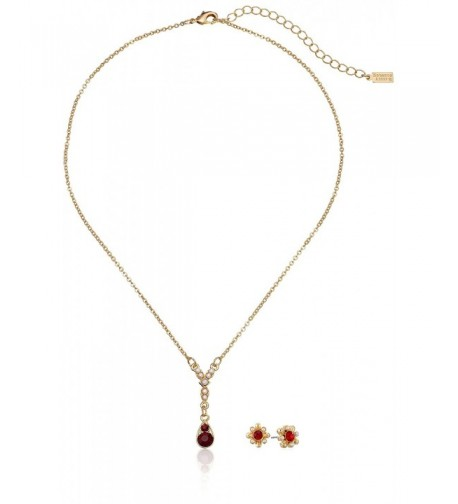 Downton Abbey Gold Tone Simulated Necklace