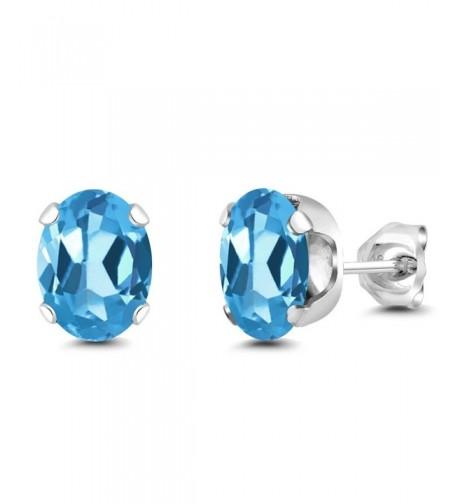Sterling Silver Gemstone Birthstone Earrings