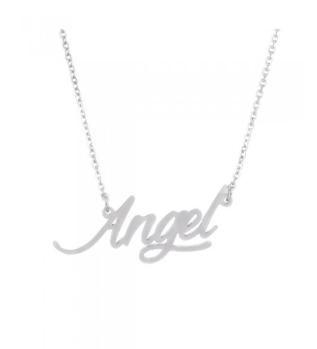 AOLO Silver Angel Stamped Jewelry