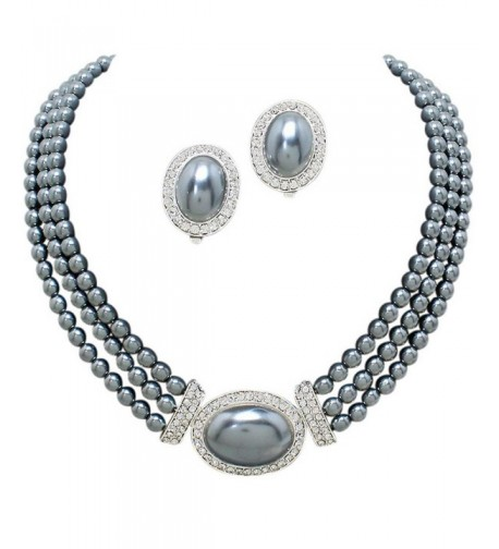 Elegant Strand Bridal Necklace Earring