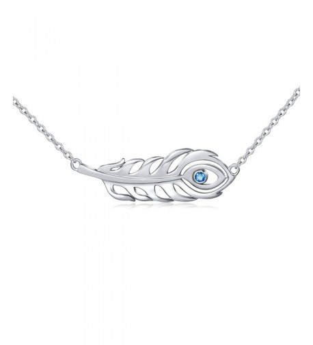 Sterling Silver Peacock Feather Necklace