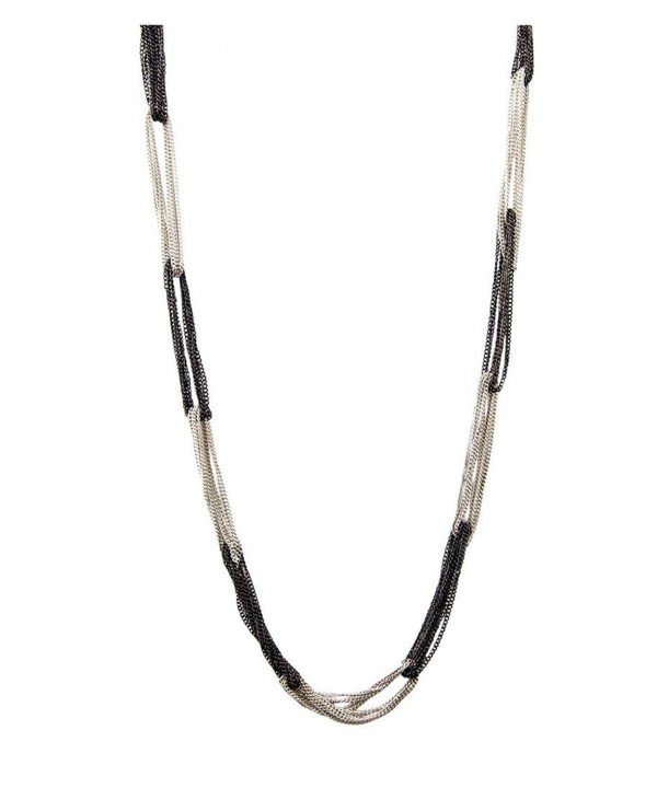 Womens Fashion Charlotte Silver Plate Necklace