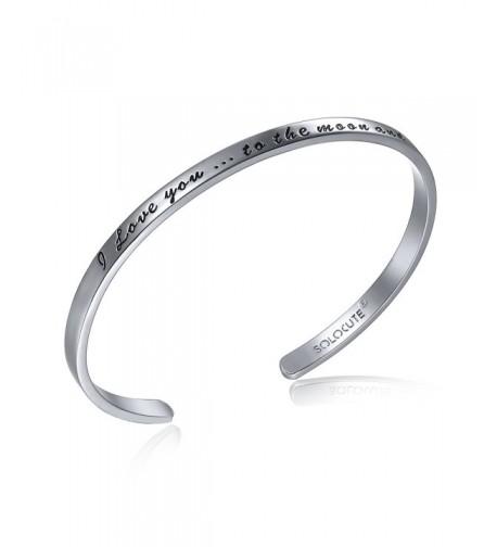 SOLOCUTE Sterling Bracelet Inspirational Bracelets