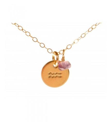 Aquarius Necklace Filled Simple Pendant