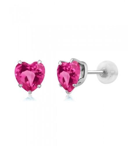 Heart Shape Mystic Topaz Earrings