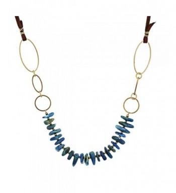 Accents Center Gemstone Necklace Expandable
