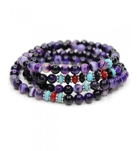 KISSPAT Gemstone Bracelet Variations Amethyst