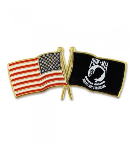 PinMarts USA Crossed Flags Lapel